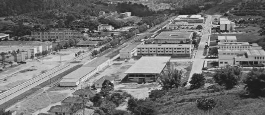 UFV década de 1970, à esquerda Almoxarifado Central